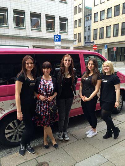 Andrea Schöneberg mit Shopping Queen bei Daum Friseure Hamburg!