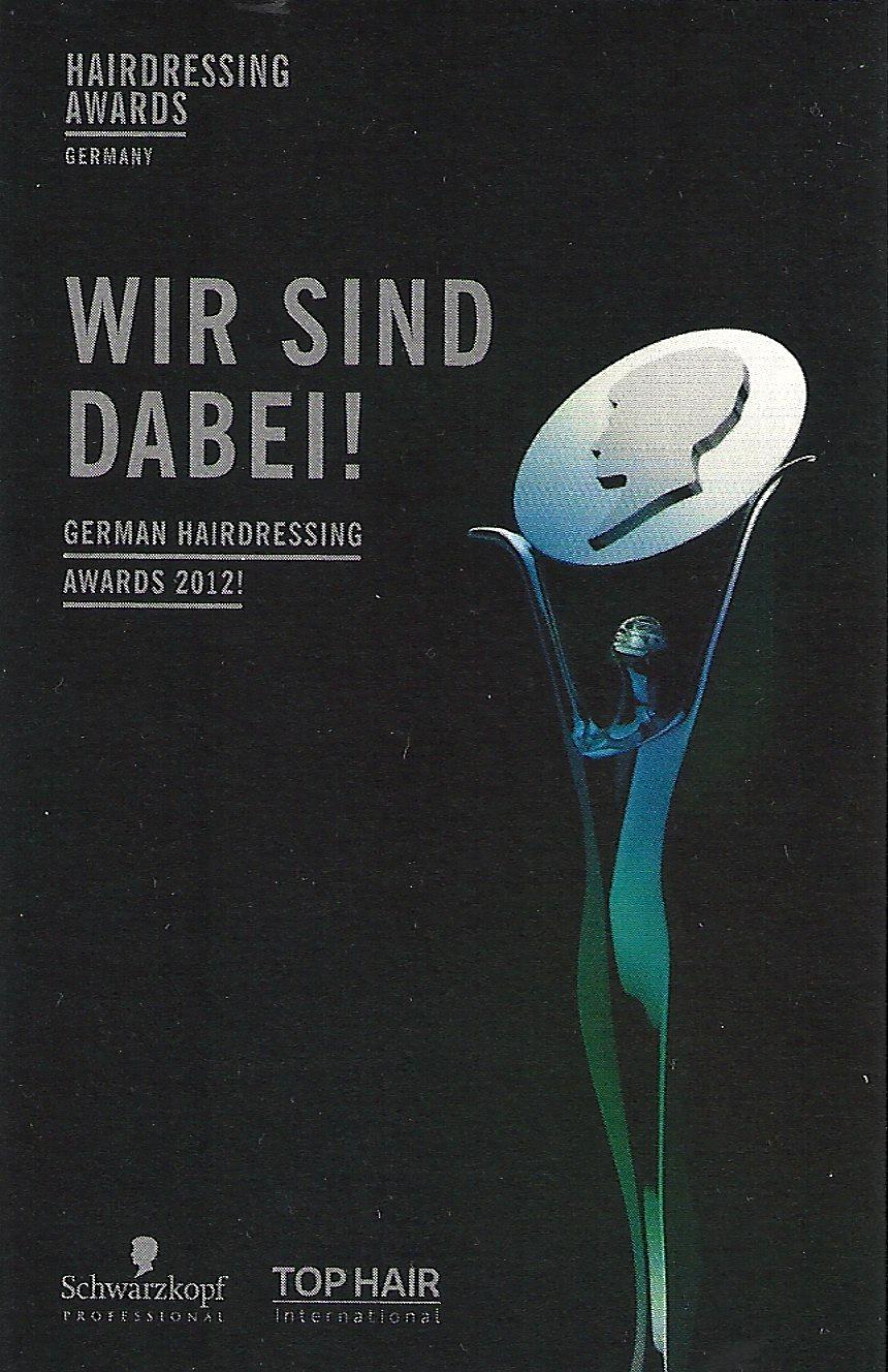 Wir sind dabei! German Hairdressing Award 2012 von Schwarzkopf.