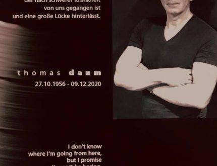 RIP Thomas Daum - Du fehlst uns.