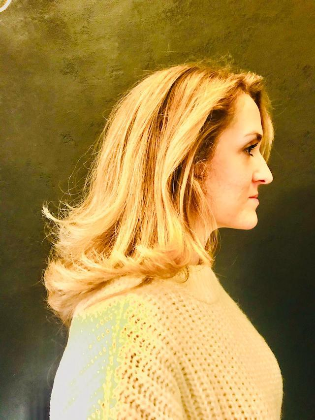Sandra Langhaarfrisur mit Balayage, Licht und Schatten Bild 3