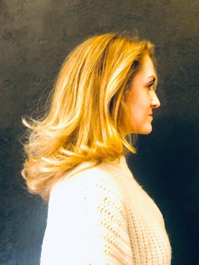 Sandra Langhaarfrisur mit Balayage, Licht und Schatten Bild 5