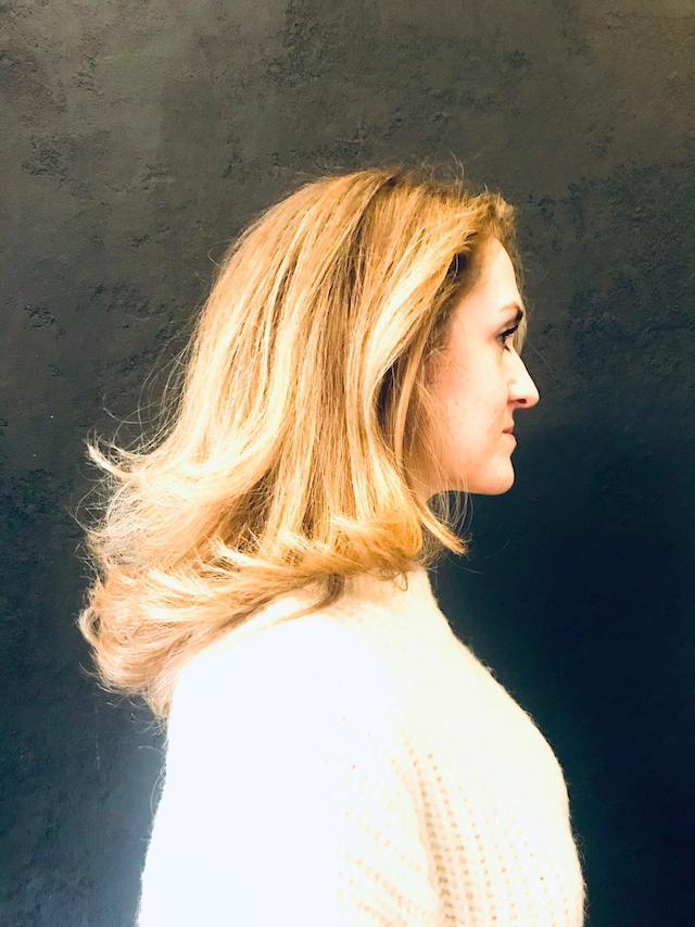 Sandra Langhaarfrisur mit Balayage, Licht und Schatten Bild 6
